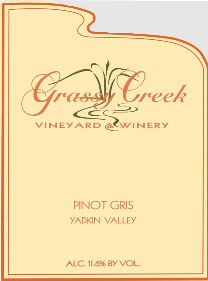 Grassy Creek Vineyard & Winery Pinot Gris 2010 Front Label