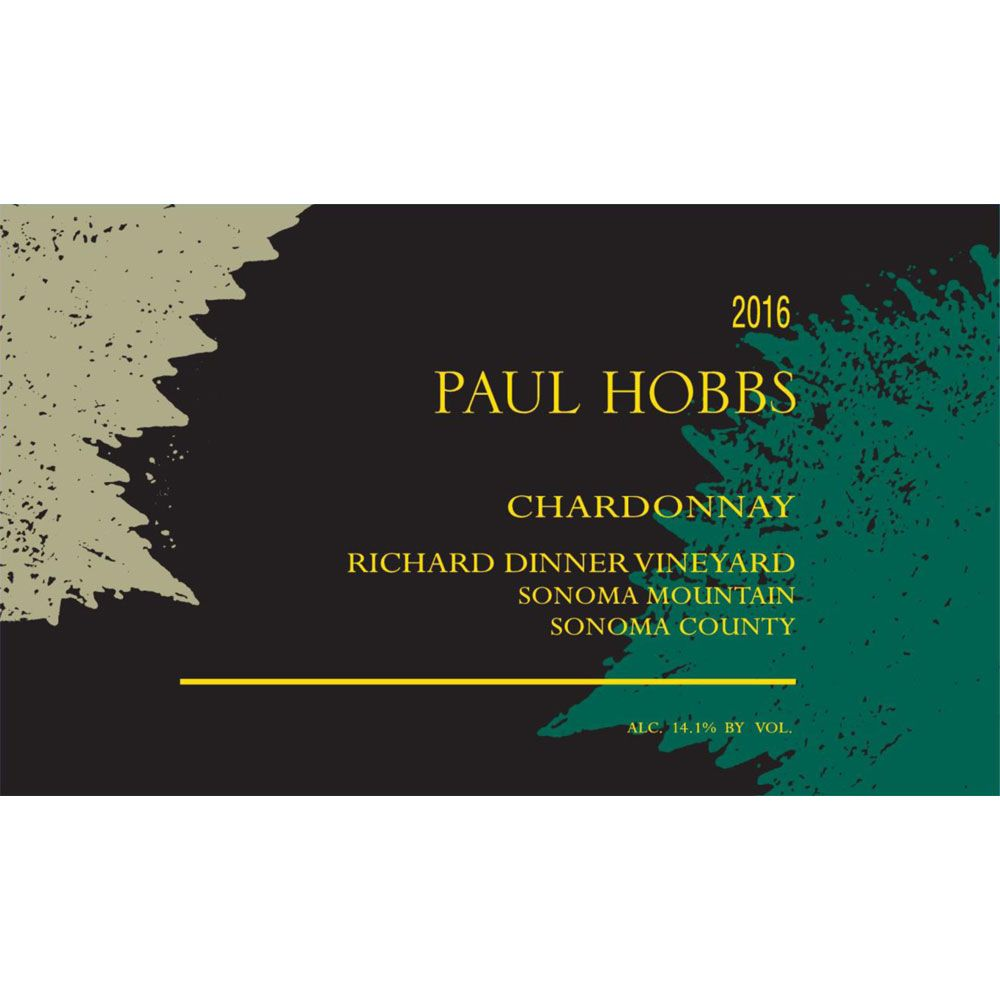 Paul Hobbs Richard Dinner Vineyard Chardonnay 2016 Front Label
