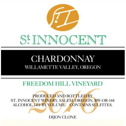 St. Innocent Freedom Hill Chardonnay 2016 Front Label