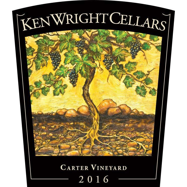 Ken Wright Cellars Carter Vineyard Pinot Noir (375ML half-bottle) 2016 Front Label