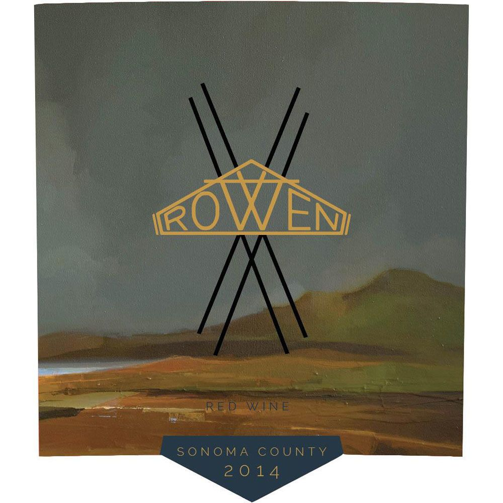 Rowen Red Wine 2014 Front Label