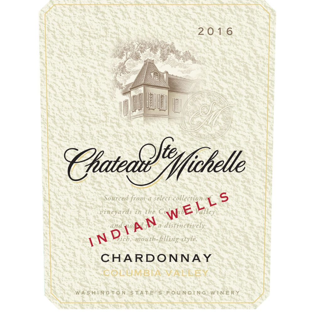 Chateau Ste. Michelle Indian Wells Vineyard Chardonnay 2016 Front Label