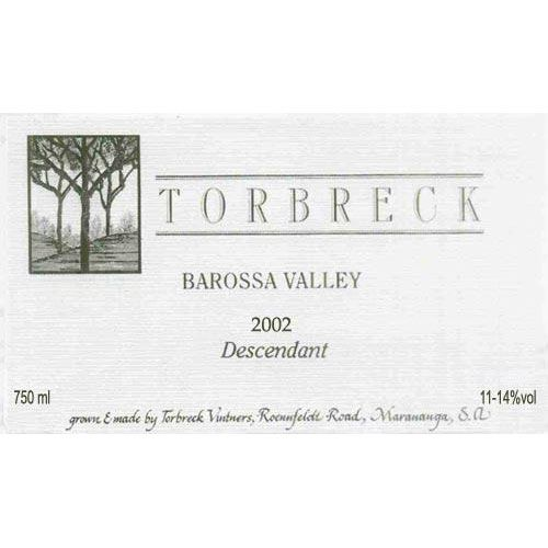 Torbreck Descendant Shiraz 2002 Front Label