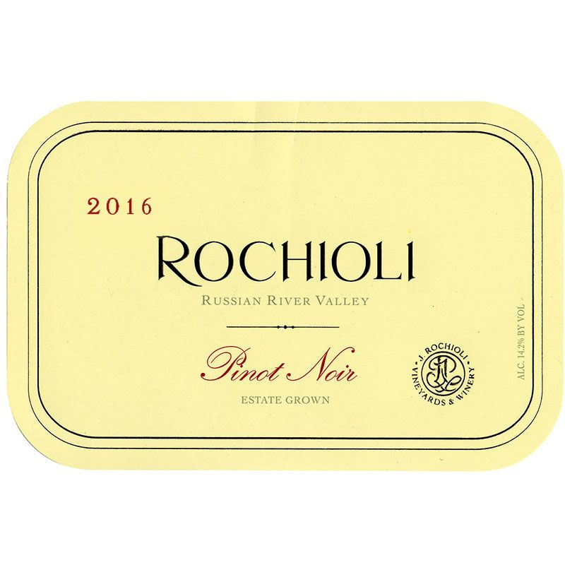 Rochioli Estate Pinot Noir 2016 Front Label