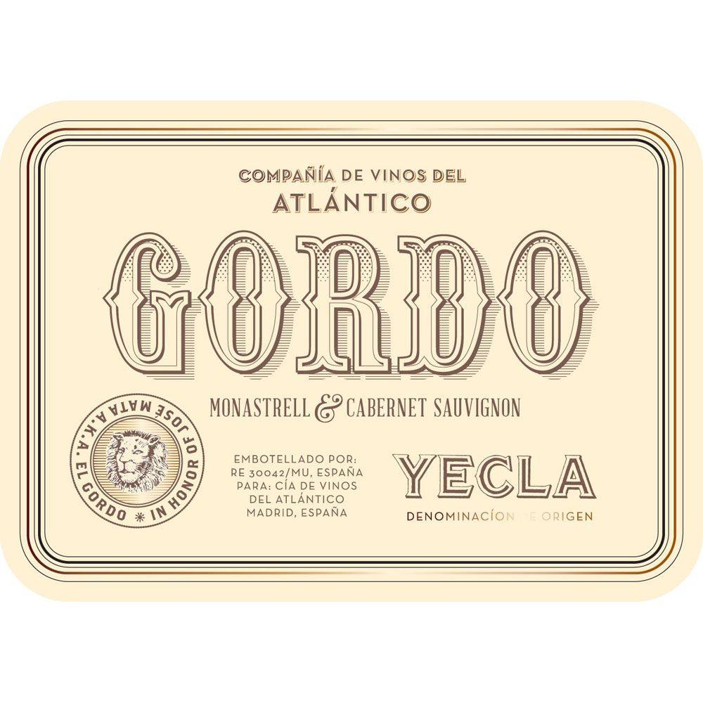 Gordo  2014 Front Label