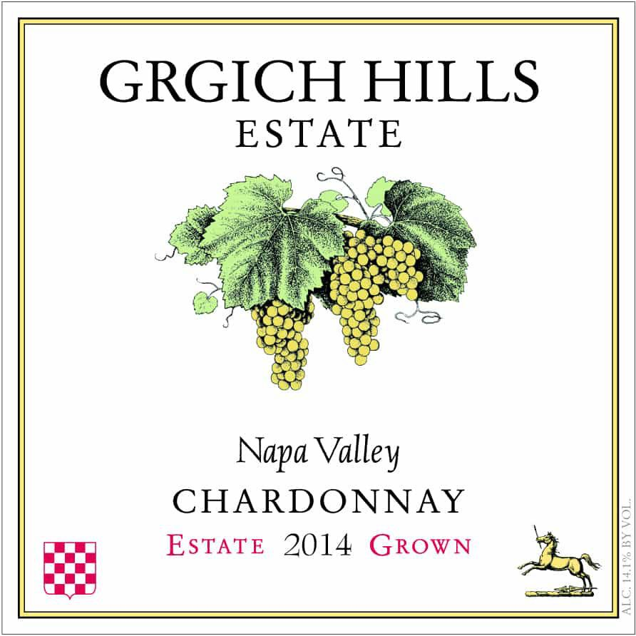 Grgich Hills Estate Chardonnay (375ML half-bottle) 2014 Front Label