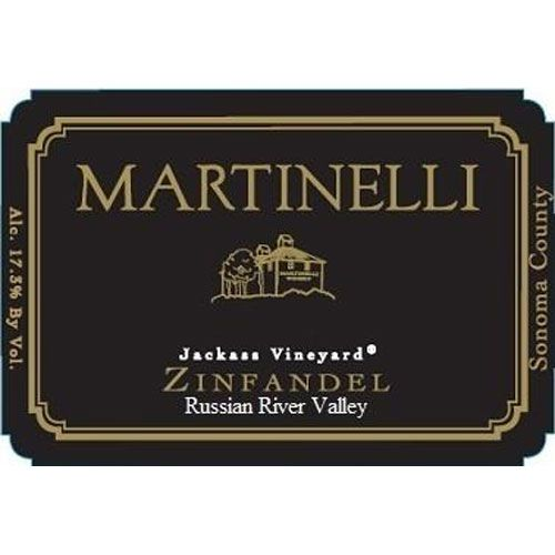 Martinelli Jackass Vineyard Zinfandel 2016 Front Label