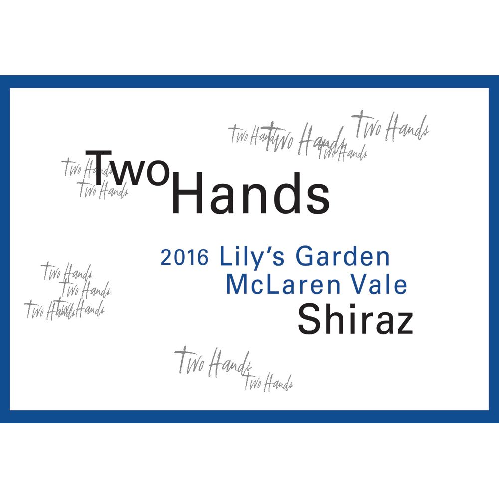 Two Hands Lily's Garden Shiraz 2016 Front Label