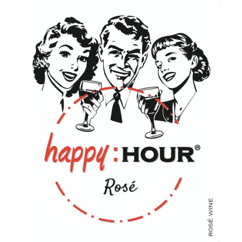 Happy Hour Spanish Rose 2017 Front Label