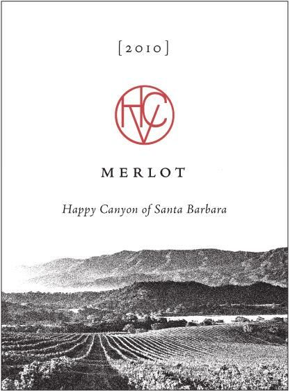 Happy Canyon Vineyards Merlot 2010 Front Label