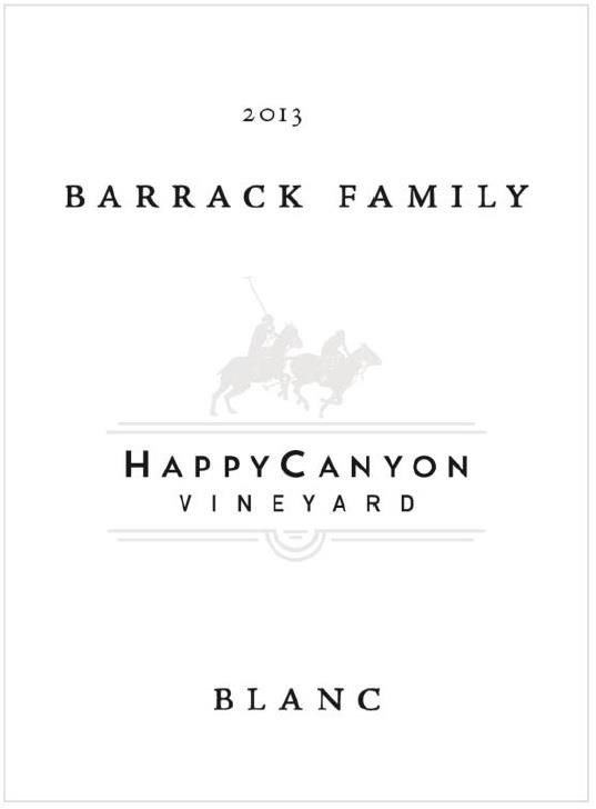 Happy Canyon Vineyards Barrack Blanc 2013 Front Label
