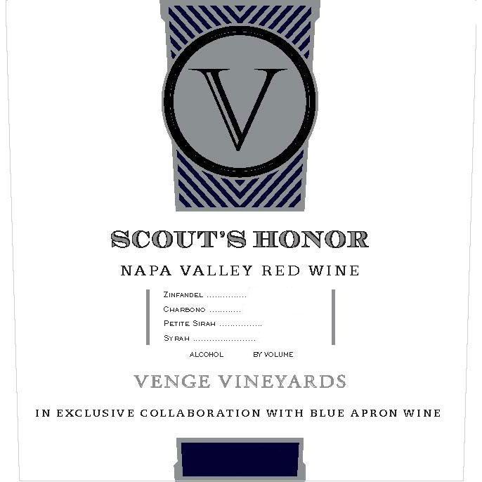Venge Vineyards Scout's Honor Proprietary Red 2016 Front Label