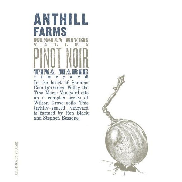 Anthill Farms Tina Marie Vineyard Pinot Noir 2016 Front Label