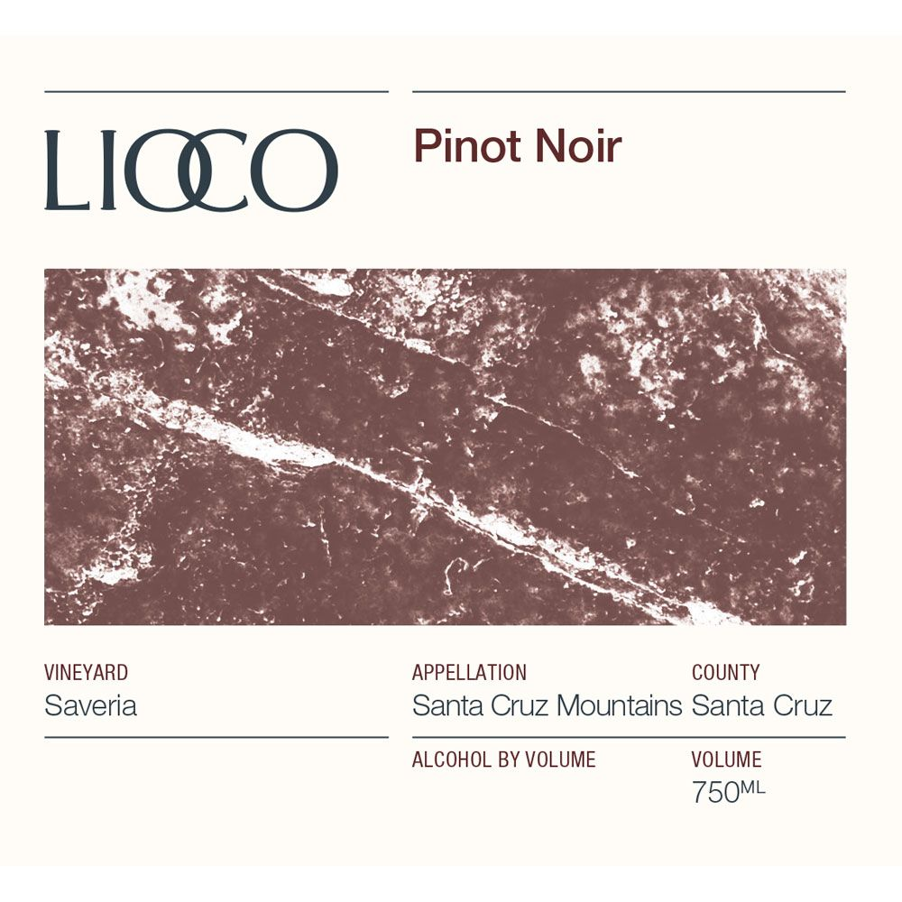 Lioco Saveria Pinot Noir 2016 Front Label