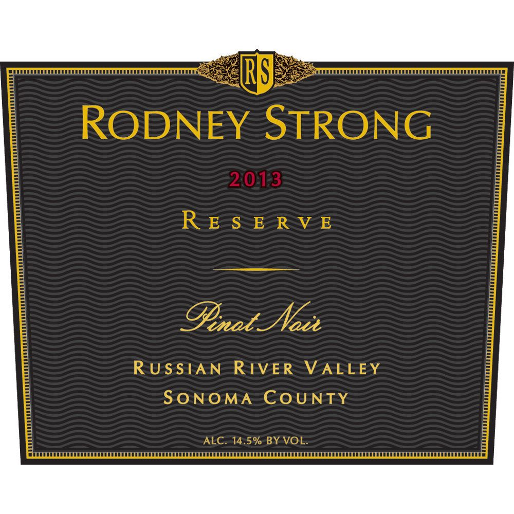 Rodney Strong Reserve Pinot Noir 2013 Front Label