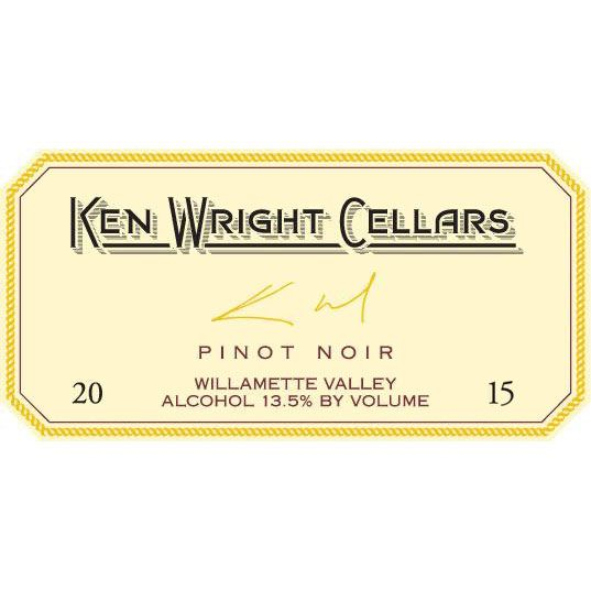 Ken Wright Cellars Willamette Valley Pinot Noir 2015 Front Label