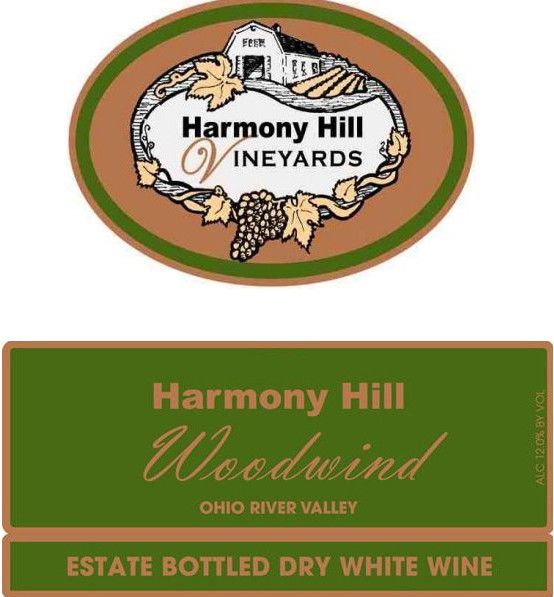 Harmony Hill Vineyards & Estate Winery Woodwind 2015 Front Label