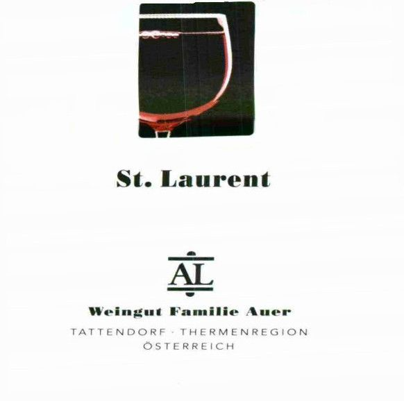 Weingut Familie Auer Thermenregion St. Laurent 2009 Front Label