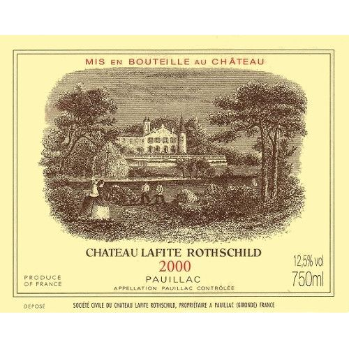 Chateau Lafite Rothschild  2000 Front Label