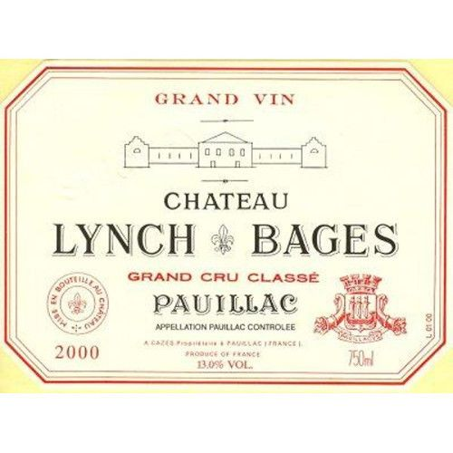 Chateau Lynch-Bages  2000 Front Label