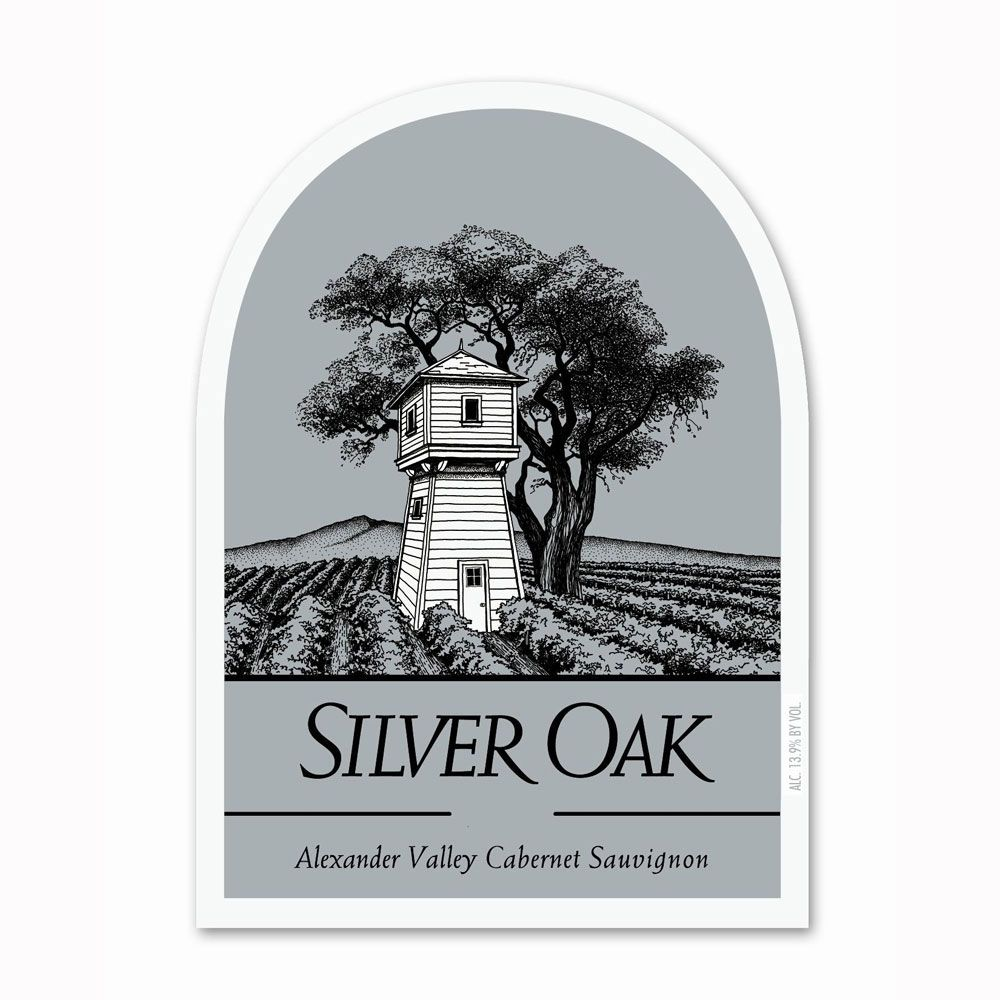 Silver Oak Alexander Valley Cabernet Sauvignon (1.5 Liter Magnum - signs of past seepage) 1981 Front Label