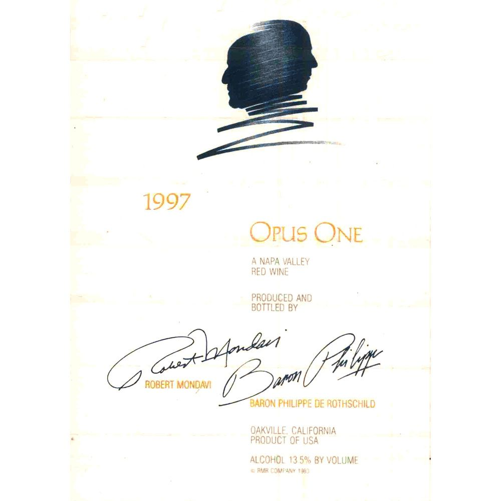 Opus One  1997 Front Label