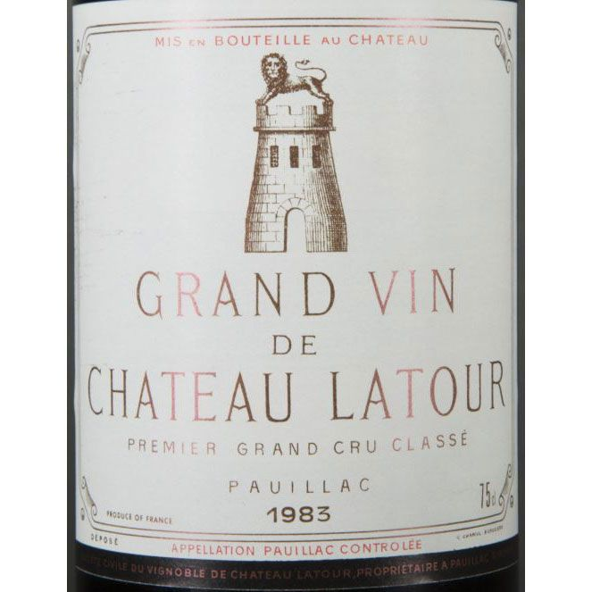 Chateau Latour (bin soiled labels) 1983 Front Label