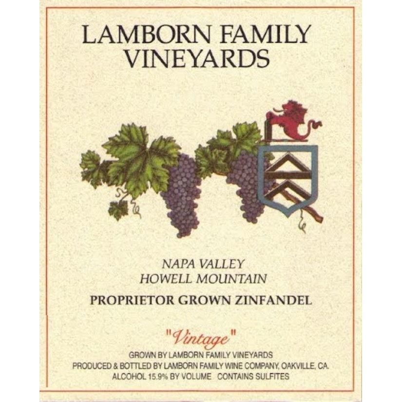 Lamborn Family Howell Mountain Zinfandel (1.5 Liter Magnum) 1996 Front Label