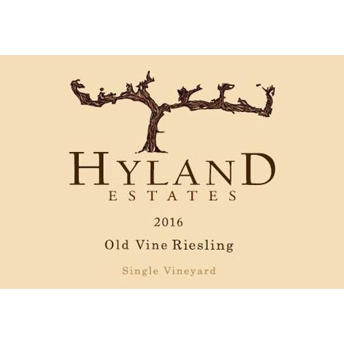 Hyland Estates Riesling 2016 Front Label