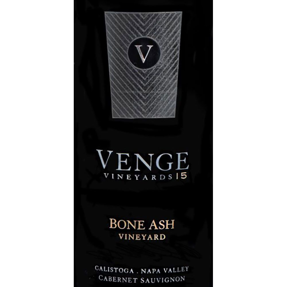 Venge Vineyards Bone Ash Vineyard Cabernet Sauvignon 2015 Front Label