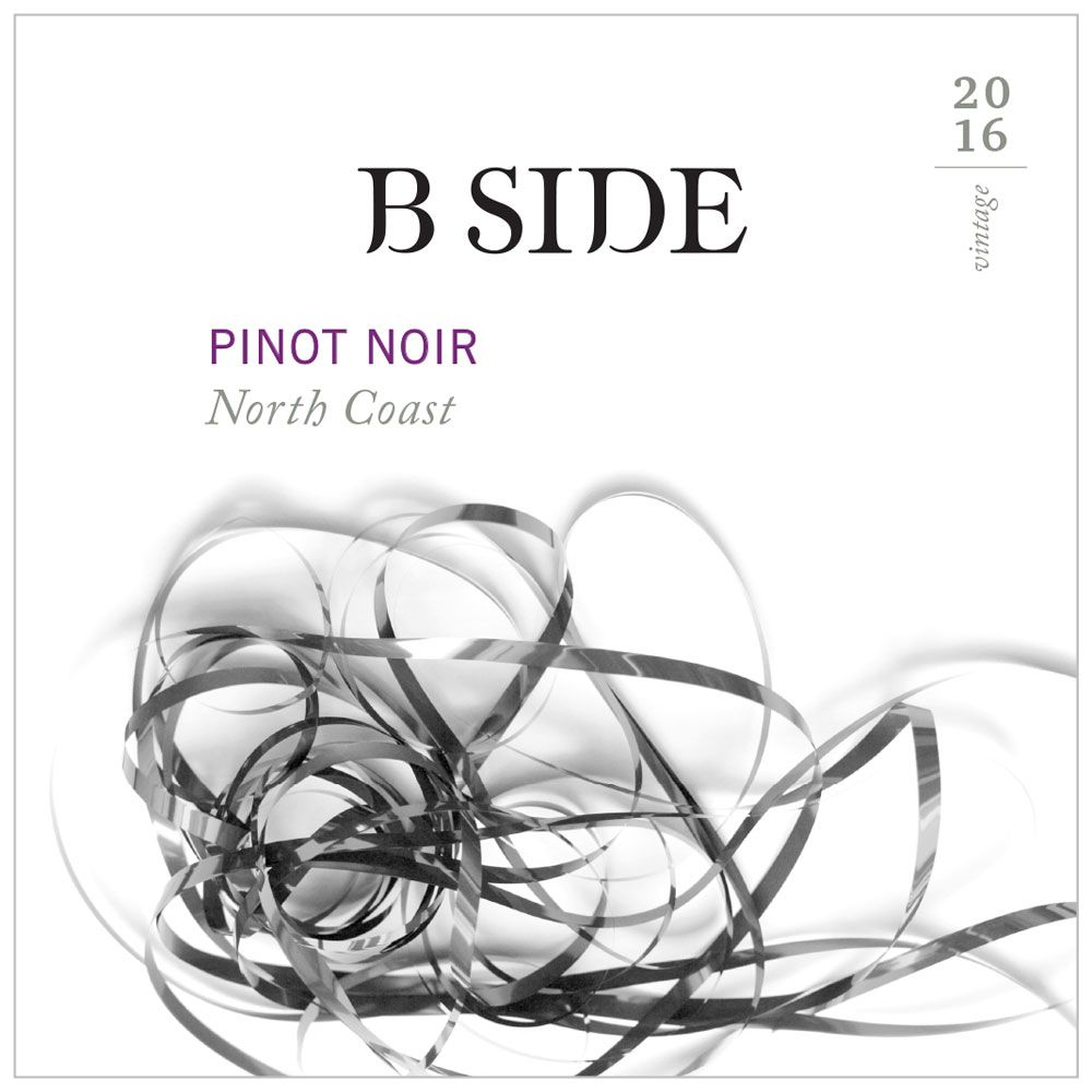 B Side North Coast Pinot Noir 2016 Front Label