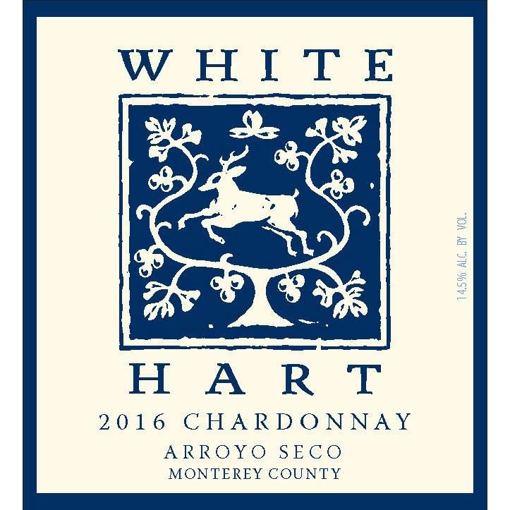 White Hart Chardonnay 2016 Front Label
