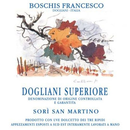 Francesco Boschis Sori San Martino Dolcetto di Dogliani 2015 Front Label