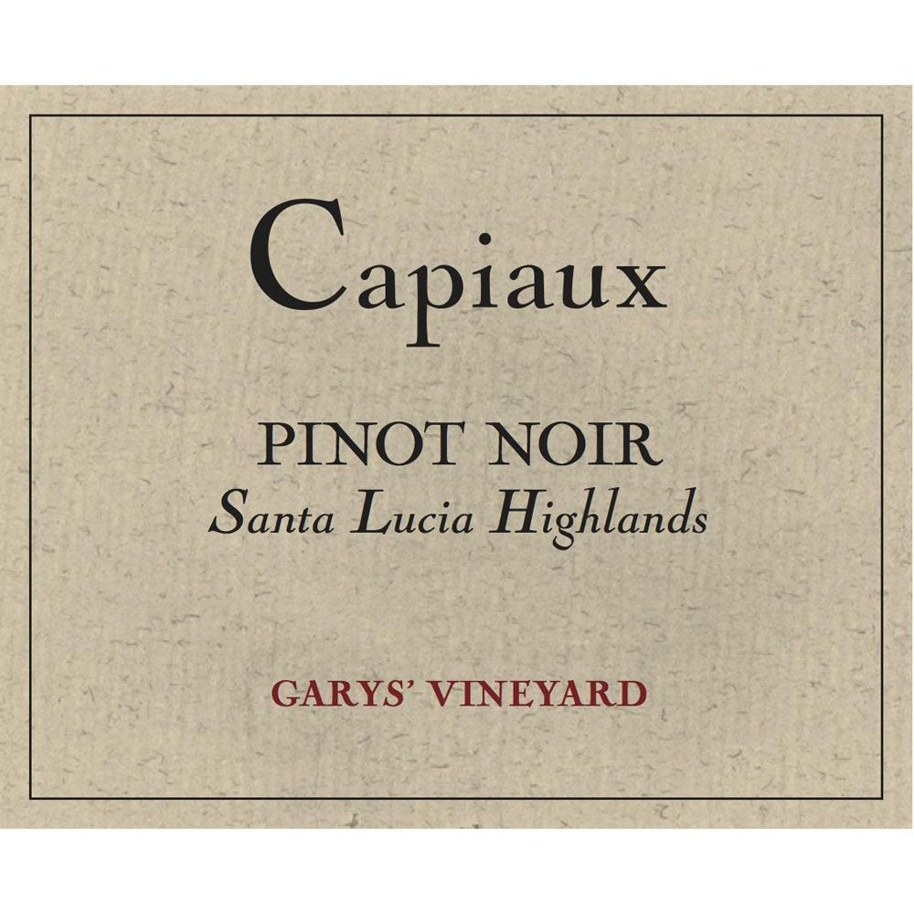 Capiaux Cellars Garys' Vineyard Pinot Noir 2015 Front Label