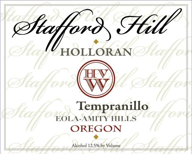 Holloran Vineyard Wines Stafford Hill Tempranillo 2013 Front Label
