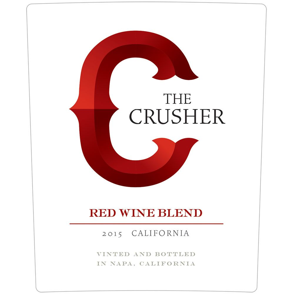 The Crusher Grower's Selection Red Blend 2015 Front Label