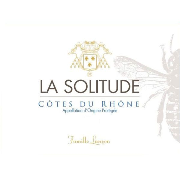 Domaine de la Solitude Cotes Du Rhone Red 2016 Front Label