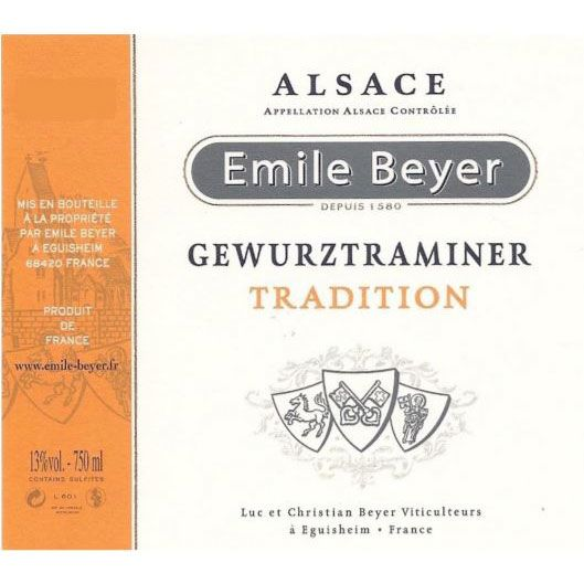 Domaine Emile Beyer Gewurztraminer Tradition 2016 Front Label