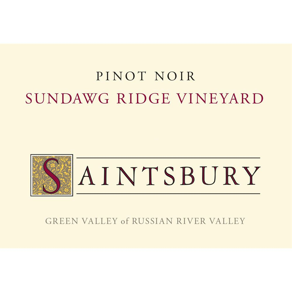 Saintsbury Sundawg Ridge Vineyard Pinot Noir 2016 Front Label