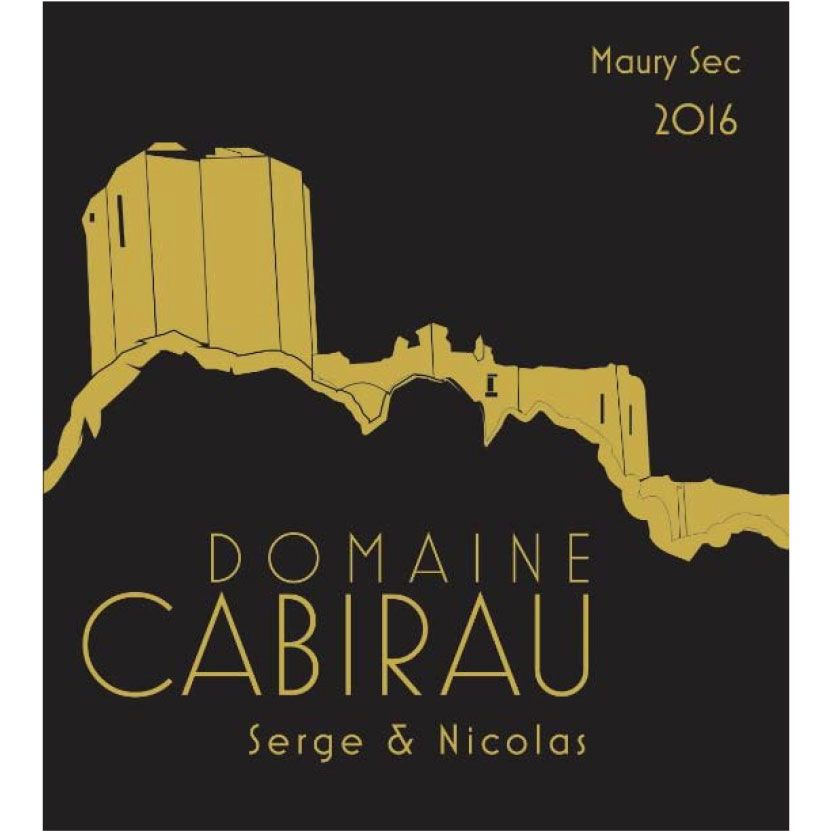 Domaine Cabirau Maury Sec Serge and Nicolas 2016 Front Label