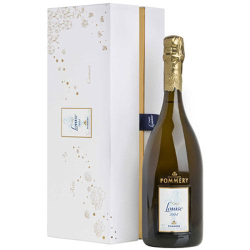 Pommery Cuvee Louise with Gift Box 2004 Front Bottle Shot