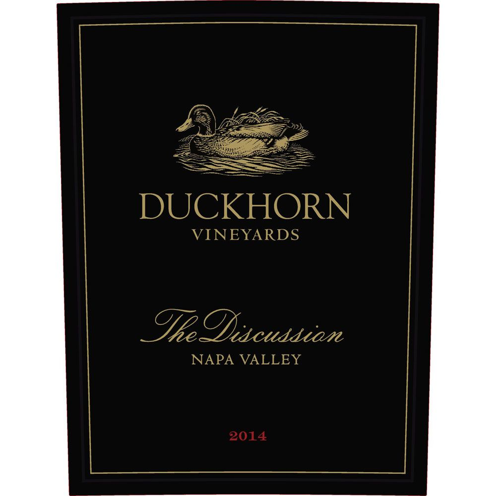 Duckhorn The Discussion 2014 Front Label
