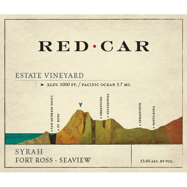 Red Car Estate Vineyard Syrah 2013 Front Label