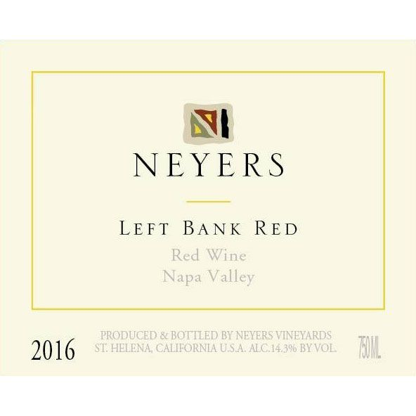 Neyers Left Bank Red 2016 Front Label