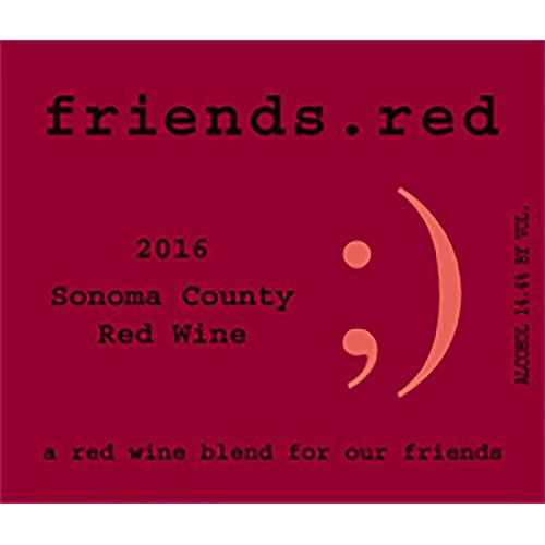 Pedroncelli friends.red 2016 Front Label