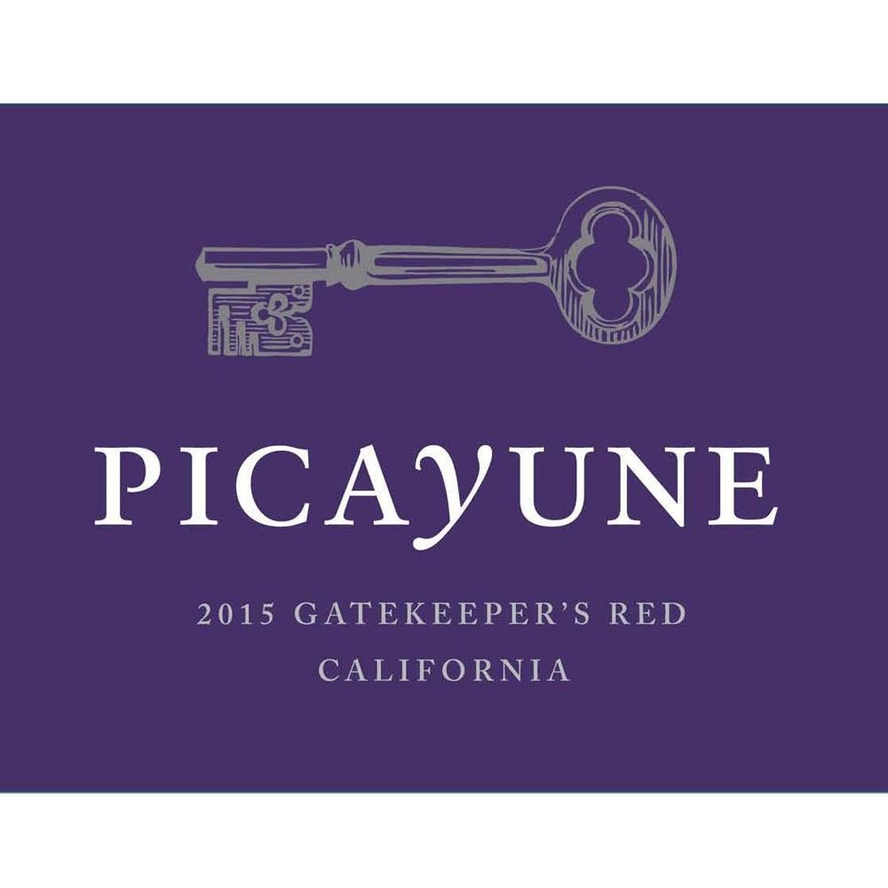 Picayune Cellars Gatekeeper's Red 2015 Front Label