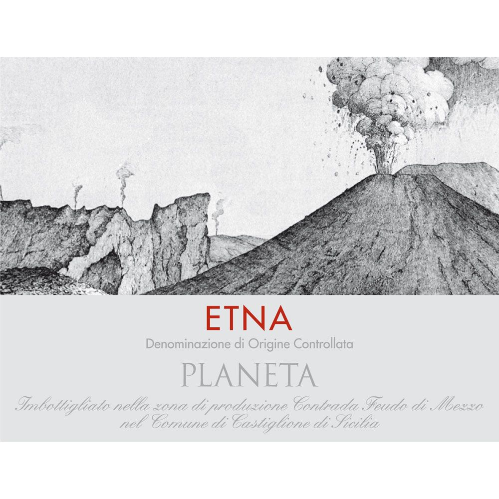 Planeta Etna Rosso 2016 Front Label