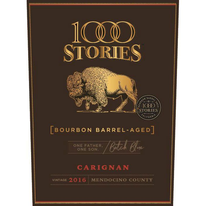1000 Stories Bourbon Barrel Aged Batch Blue Carignan 2016 Front Label
