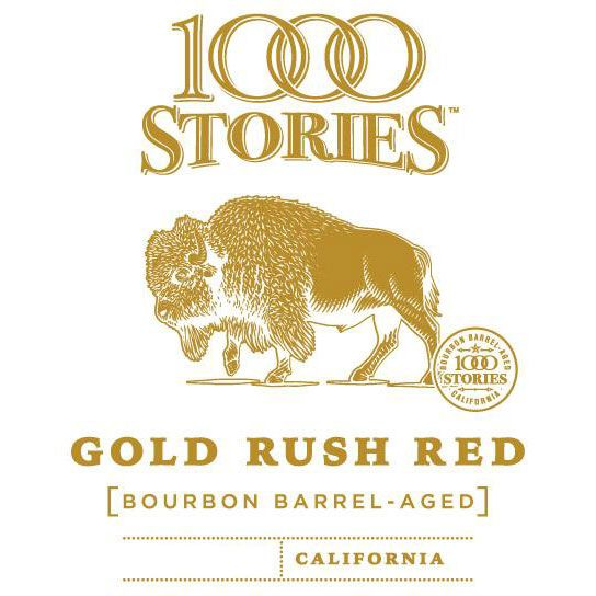 1000 Stories Bourbon Barrel Aged Gold Rush Red 2017 Front Label