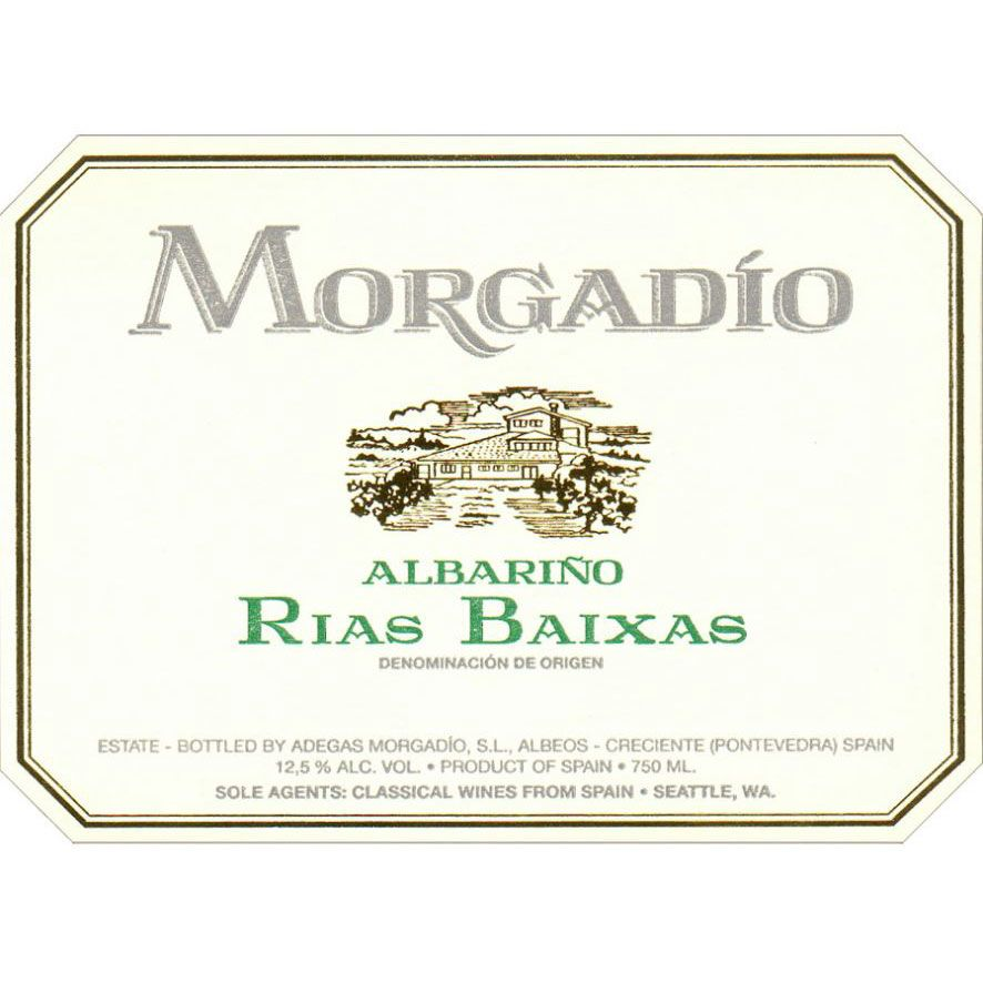 Morgadio Albarino 2017 Front Label